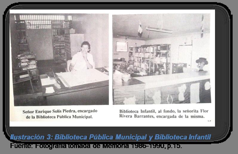Ilustración 3: Biblioteca Pública Municipal y Biblioteca Infantil